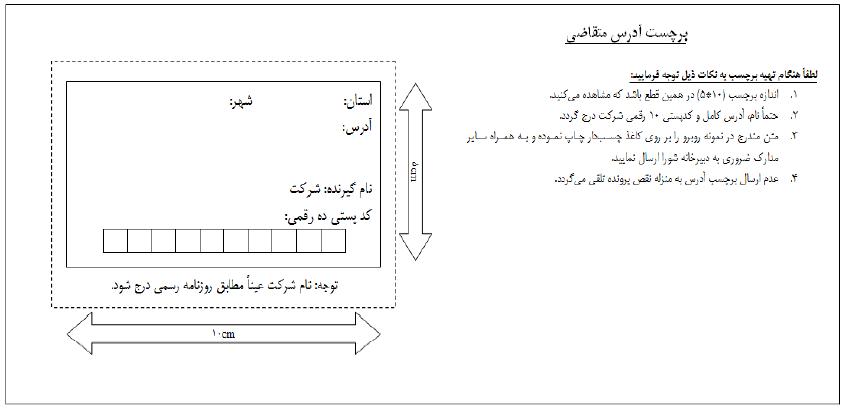 مدارک فیزیکی صدور گواهینامه و نمونه نامه درخواست رتبه